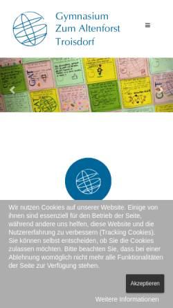 Vorschau der mobilen Webseite www.altenforst.de, Städtisches Gymnasium Zum Altenforst Troisdorf