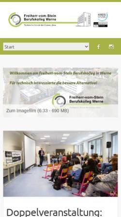 Vorschau der mobilen Webseite www.bk-werne.de, Freiherr-vom-Stein Berufskolleg Werne