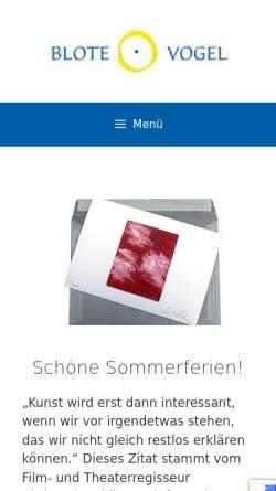 Vorschau der mobilen Webseite www.blote-vogel.de, Blote - Vogel