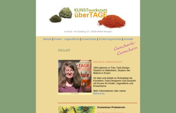 Vorschau von www.kunstwerkstatt-ueber-tage.de, Kunstwerkstatt über Tage - Malschule