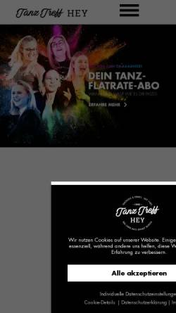 Vorschau der mobilen Webseite www.tanz-treff-hey.de, Tanz Treff Hey
