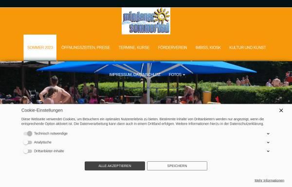 Vorschau von www.sommerbadminden.de, Sommerbad