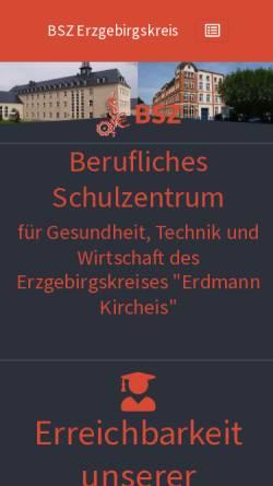 Vorschau der mobilen Webseite www.bsz-oelsnitz.de, Berufliches Schulzentrum für Technik, Wirtschaft und Gesundheit