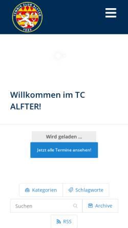 Vorschau der mobilen Webseite www.tcalfter.de, Tischtennis-Club Blau-Weiß Alfter e.V. gegr.1946