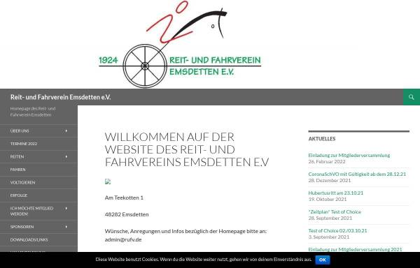 Vorschau von www.rufv.de, Reit- und Fahrverein Emsdetten e.V.