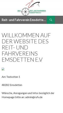 Vorschau der mobilen Webseite www.rufv.de, Reit- und Fahrverein Emsdetten e.V.