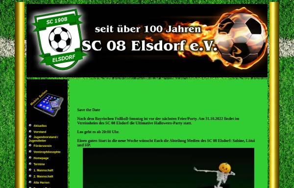 Vorschau von www.sc08.de, SC 08 Elsdorf e.V.