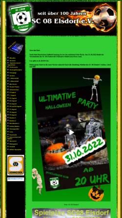 Vorschau der mobilen Webseite www.sc08.de, SC 08 Elsdorf e.V.