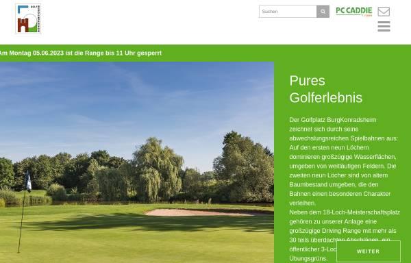 Vorschau von www.golfburg.de, Golf Burg Konradsheim GmbH & Co. KG