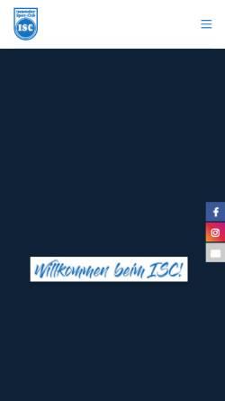 Vorschau der mobilen Webseite www.sc-isenstedt.de, Isenstedter Sport-Club e.V.