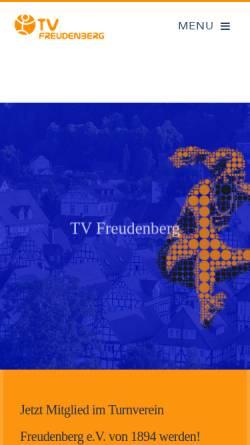 Vorschau der mobilen Webseite www.tv-freudenberg.de, Turnverein Freudenberg e.V. 1894