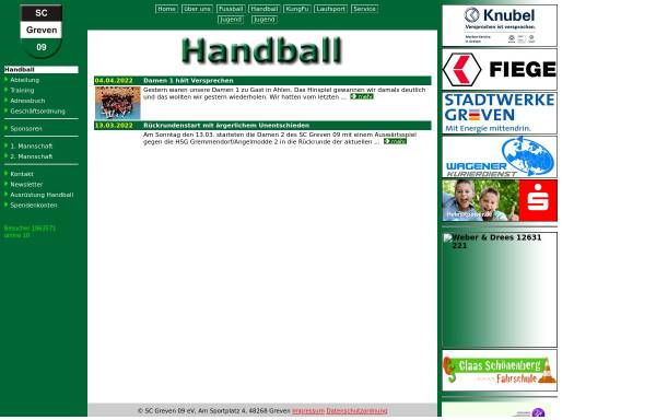 Vorschau von www.scgreven09-handball.de, SC Greven 09 - Handball