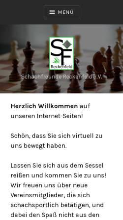 Vorschau der mobilen Webseite www.schachfreunde-reckenfeld.de, Schachfreunde Reckenfeld e.V.