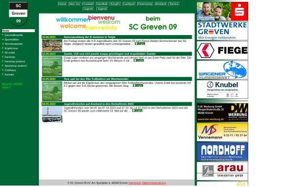 Vorschau von www.scgreven09.de, Sportclub Greven 09 e.V.