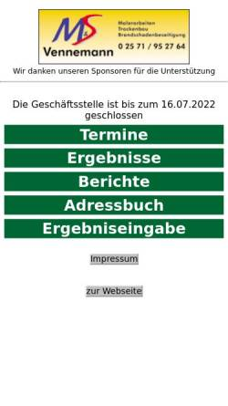 Vorschau der mobilen Webseite www.scgreven09.de, Sportclub Greven 09 e.V.