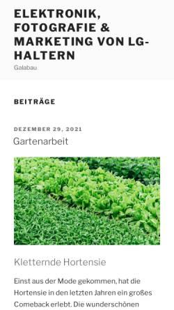 Vorschau der mobilen Webseite www.lg-haltern.de, Leichtathletik Gemeinschaft Haltern