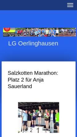 Vorschau der mobilen Webseite www.lg-oerlinghausen.de, Laufgemeinschaft Oerlinghausen