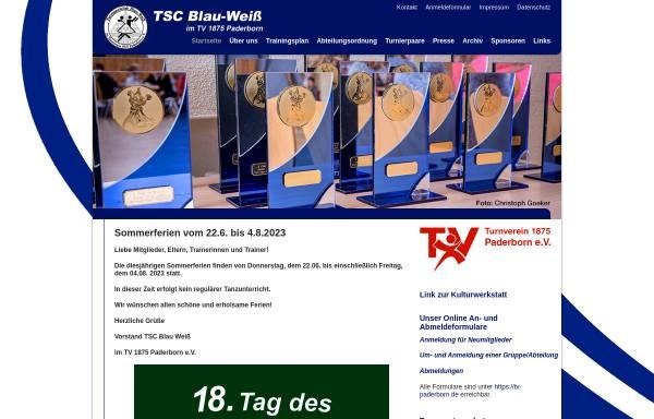 Vorschau von www.tanzsport-paderborn.de, Tanzsport TSC Blau-Weiß