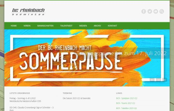 Vorschau von www.bc-rheinbach.de, Badminton Club Rheinbach