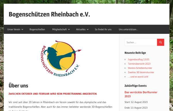 Vorschau von www.bogenschuetzen-rheinbach.de, Bogenschützen Rheinbach e.V.
