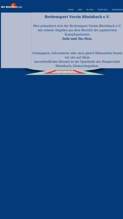 Vorschau der mobilen Webseite bsv-rheinbach.de, Breitensportverein Rheinbach e.V.