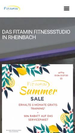 Vorschau der mobilen Webseite www.fitamin-fitness.de, Fitamin Fitness