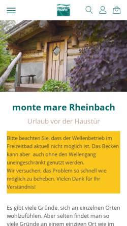 Vorschau der mobilen Webseite www.monte-mare.de, Monte Mare Rheinbach Freizeitbad GmbH & Co. KG