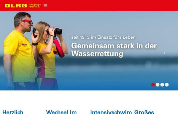 Vorschau von rhede.dlrg.de, Deutsche-Lebens-Rettungs-Gesellschaft, Ortsgruppe Rhede e.V.