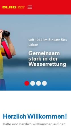 Vorschau der mobilen Webseite rhede.dlrg.de, Deutsche-Lebens-Rettungs-Gesellschaft, Ortsgruppe Rhede e.V.