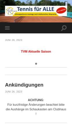 Vorschau der mobilen Webseite tc-sankt-augustin.de, 1. TC Sankt Augustin e.V.