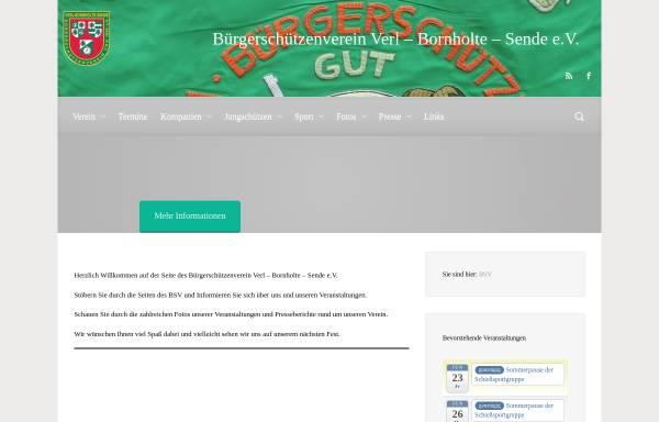Vorschau von www.bsv-verl.de, Bürgerschützenverein Verl-Bornholte-Sende von 1928 e.V.