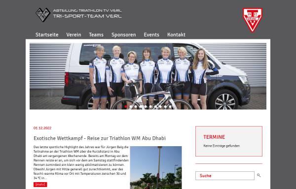 Vorschau von www.tri-sport-team.de, Tri Sport Team Verl, Triathlonabteilung im TV Verl e.V.