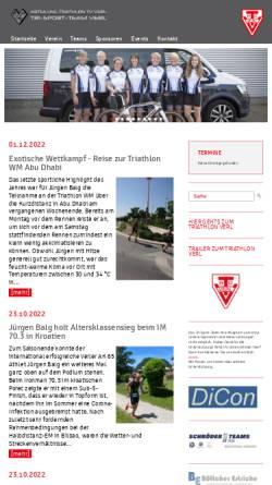 Vorschau der mobilen Webseite www.tri-sport-team.de, Tri Sport Team Verl, Triathlonabteilung im TV Verl e.V.