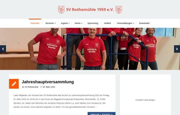 Vorschau von www.sv-rothemuehle.de, SV Rothemühle 1959 e.V.