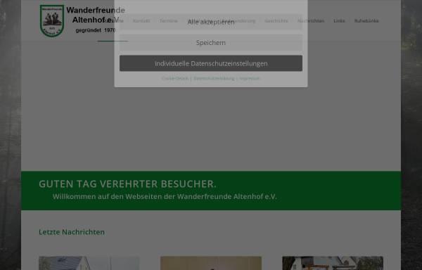 Vorschau von www.wanderfreunde-altenhof.de, Wanderfreunde Altenhof e.V.