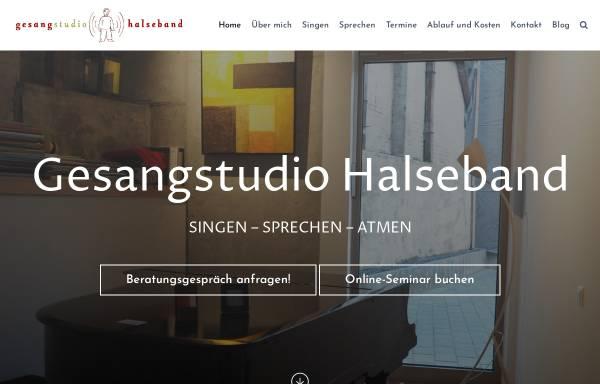 Vorschau von www.gesanglehrer.de, Halseband, Christian