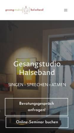 Vorschau der mobilen Webseite www.gesanglehrer.de, Halseband, Christian