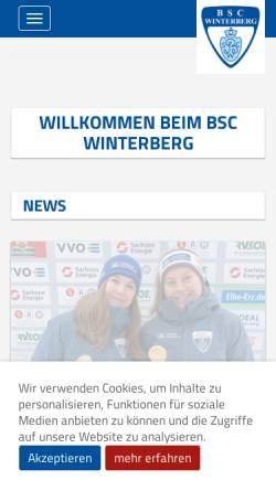 Vorschau der mobilen Webseite www.bobclub-winterberg.de, Bob- und Schlittensportclub Sauerland Winterberg e.V.