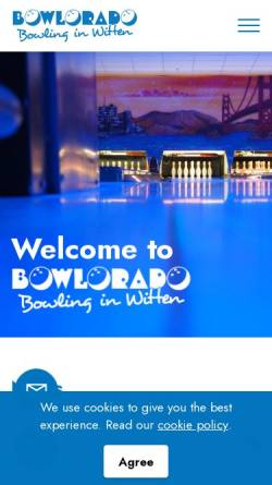 Vorschau der mobilen Webseite www.bowlorado.de, Bowlorado