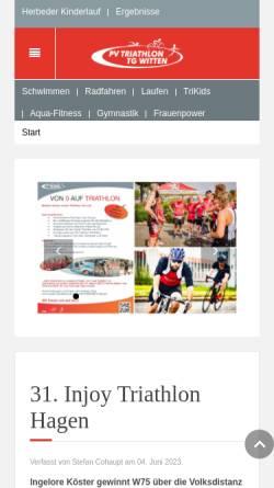 Vorschau der mobilen Webseite www.triwit.de, PV-Triathlon Witten e.V.