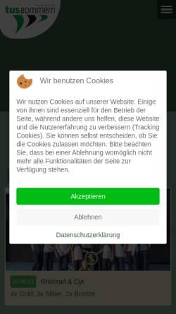Vorschau der mobilen Webseite www.tus-bommern.de, TuS Bommern 1879 e.V.