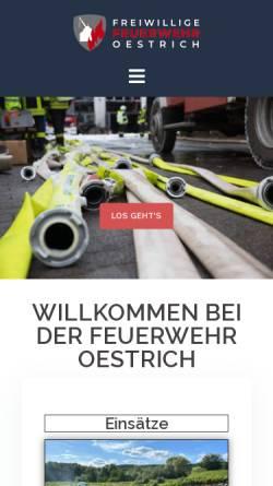 Vorschau der mobilen Webseite www.feuerwehr-oestrich.de, Freiwillige Feuerwehr Oestrich
