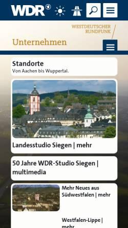 Vorschau der mobilen Webseite www.wdr.de, WDR Studio Siegen