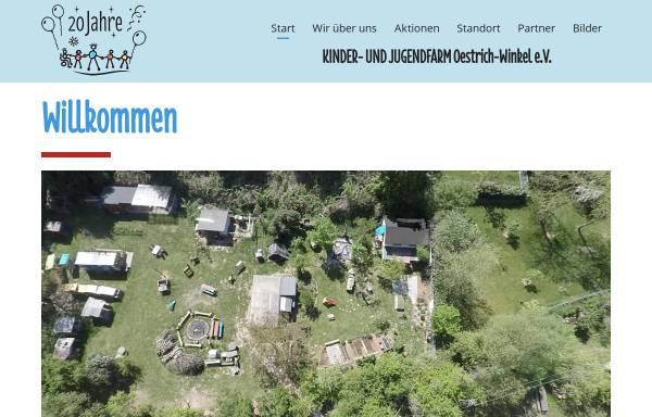 Vorschau von www.am-elsterbach.de, Kinder- und Jugendfarm Oestrich-Winkel e.V.