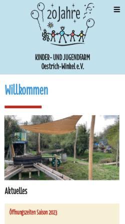 Vorschau der mobilen Webseite www.am-elsterbach.de, Kinder- und Jugendfarm Oestrich-Winkel e.V.