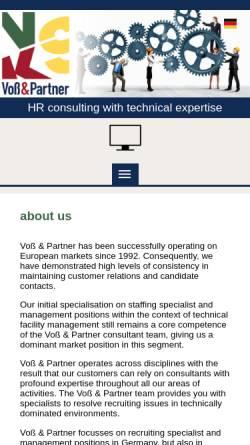 Vorschau der mobilen Webseite voss-partner.de, Voss & Partner GmbH Personalentwicklung