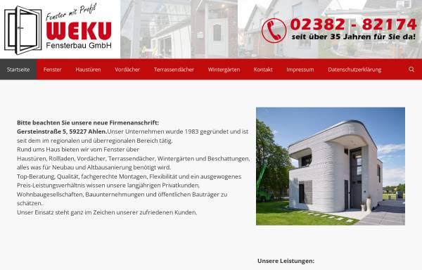 Vorschau von www.weku-fenster.de, Weku Fensterbau GmbH