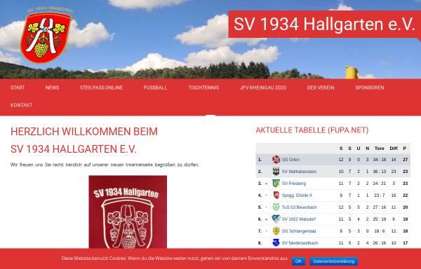 Vorschau von www.sv-hallgarten.de, Sportverein 1934 Hallgarten e.V.