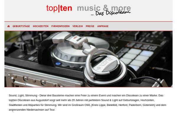 Vorschau von www.topten-disco.de, Daniel Klöpper e.K., Top-Ten Music and More