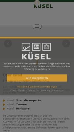 Vorschau der mobilen Webseite www.tresortrans.de, Tresortrans, B. Küsel